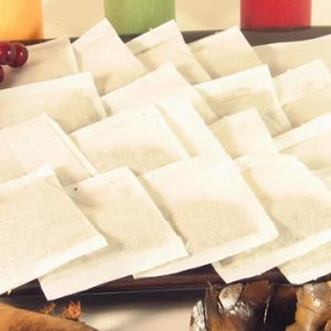 100 Empty Heat Seal Filter Paper Herb Loose 2.75 x 2 Tea Bags