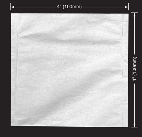 1000 pcs Jumbo Empty Tea / Herb Bags 4 x 4 (100 x 100mm)