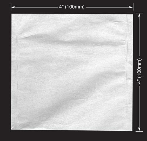 2500 pcs Jumbo Empty Tea / Herb Bags 4 x 4 (100 x 100mm)