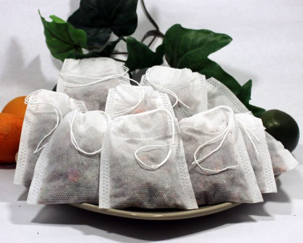 """Empty Woven Style Draw String Tea Bags 4.72"""" x 6.29"""" (50 pack)"""