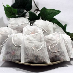 "Empty Woven Style Draw String Tea Bags 2.75"" x 3.5"" (50 pack)"