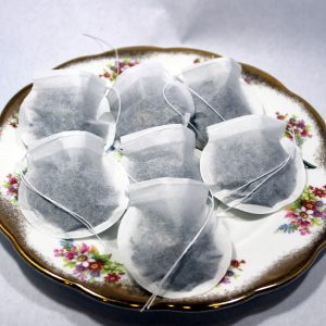 Round Empty Tea Bags with Draw String Closure (100 count)