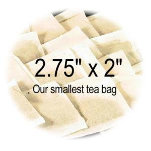 2.75 x 2 Empty Tea Bags