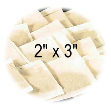 2 x 3 Empty Tea Bags
