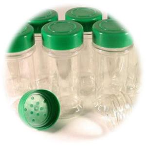 Empty Spice Bottles