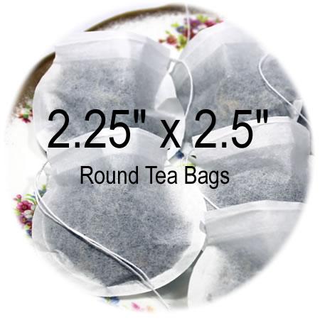 2.25 x 2.5 Round Empty Tea Bags