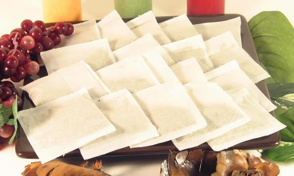 2500 Empty Heat Seal Filter Paper Herb Loose 2.75 x 2 Tea Bags