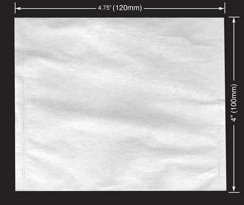 2500 pcs Jumbo Empty Tea / Herb Bags 4 x 4.75 (100 x 120mm)