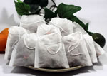 """Empty Woven Style Draw String Tea Bags 3.14"""" x 3.93"""" (2500 pack)"""