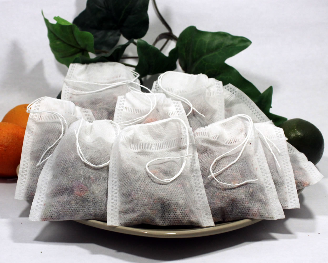 """Empty Woven Style Draw String Tea Bags 3.14"""" x 3.93"""" (50 pack)"""