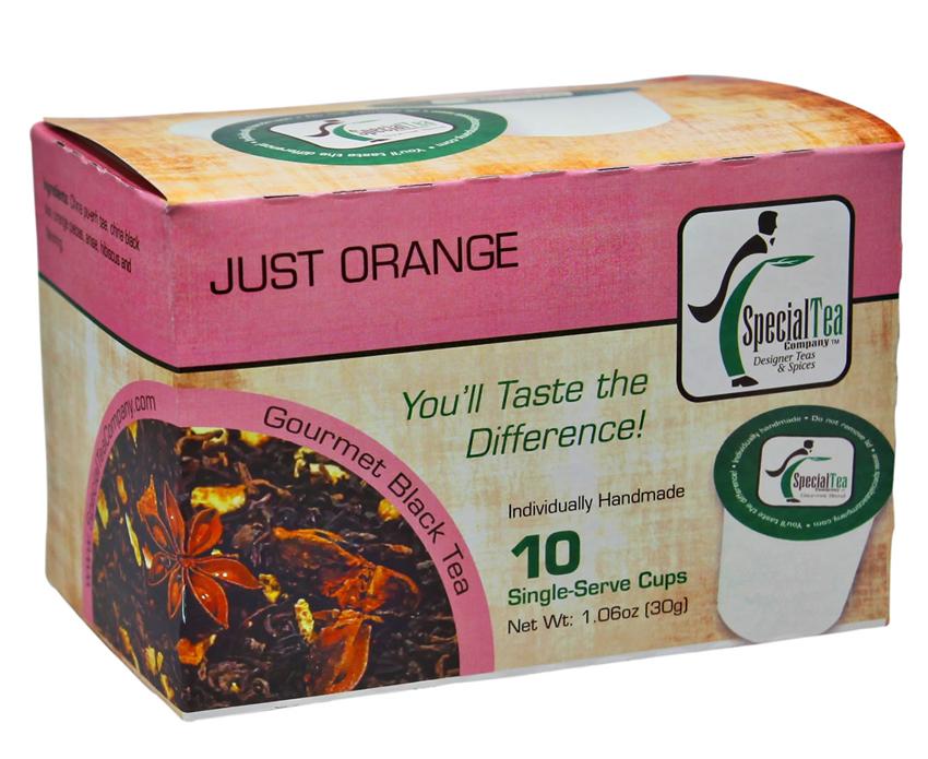 Just Orange Black Tea Single Serve Cups, 10 Count