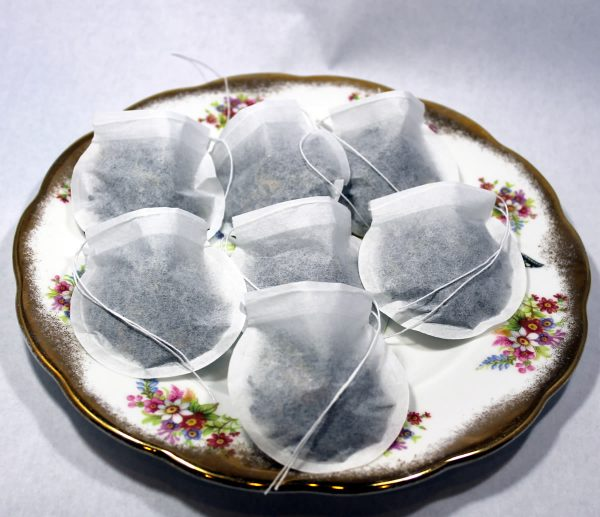 Round Empty Tea Bags with Draw String Closure (1000 count)