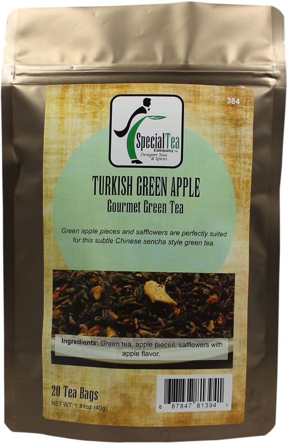Turkish Green Apple Organic Green Tea, 20 tea bags