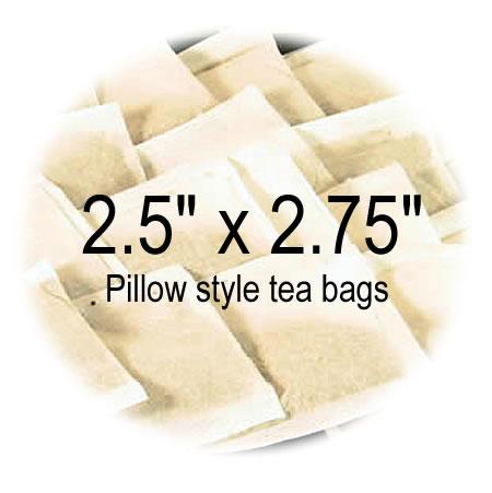 2.5 x 2.75 Empty Tea Bags