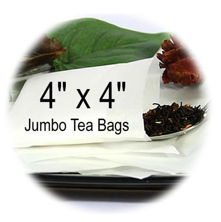 4 x 4 Jumbo empty tea bags