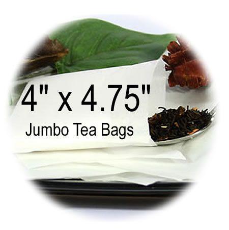 4 x 4.75 Jumbo empty tea bags