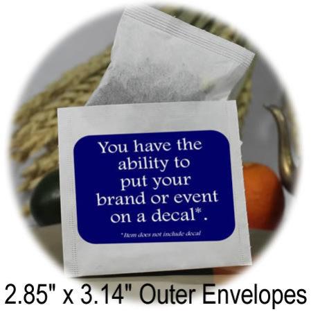 2.85 x 3.14 outer tea bag envelopes