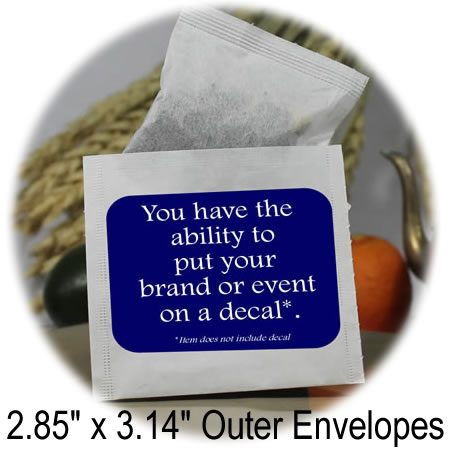 2.85 x 3.14 outer tea bag envelopes