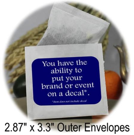 2.87 x 3.3 outer tea bag envelopes